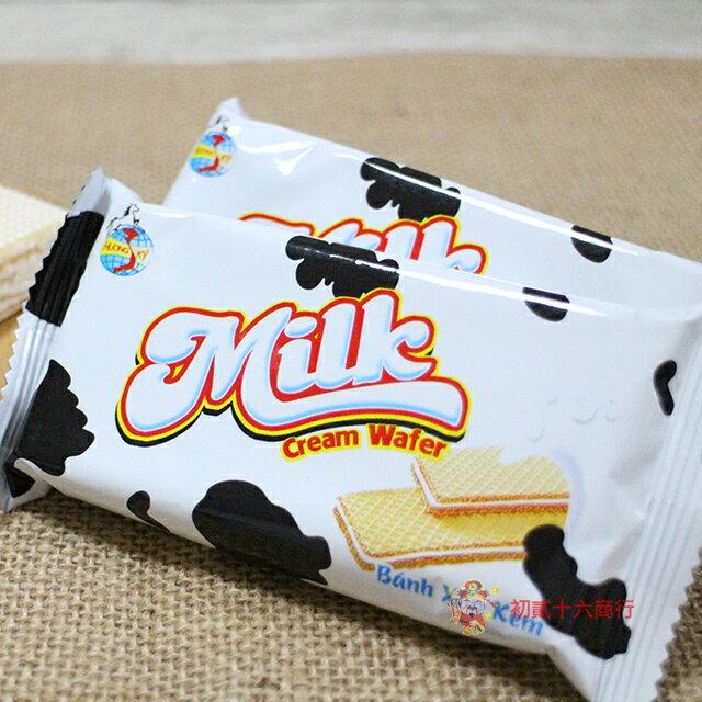 【0216零食會社】金瑞祥 牛奶威化餅(奶素)