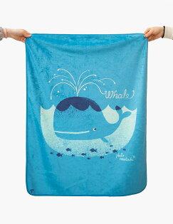 MoguMogu 莫谷市集:Pluto9-韓國時尚彩繪雙面毯-〈鯨魚〉