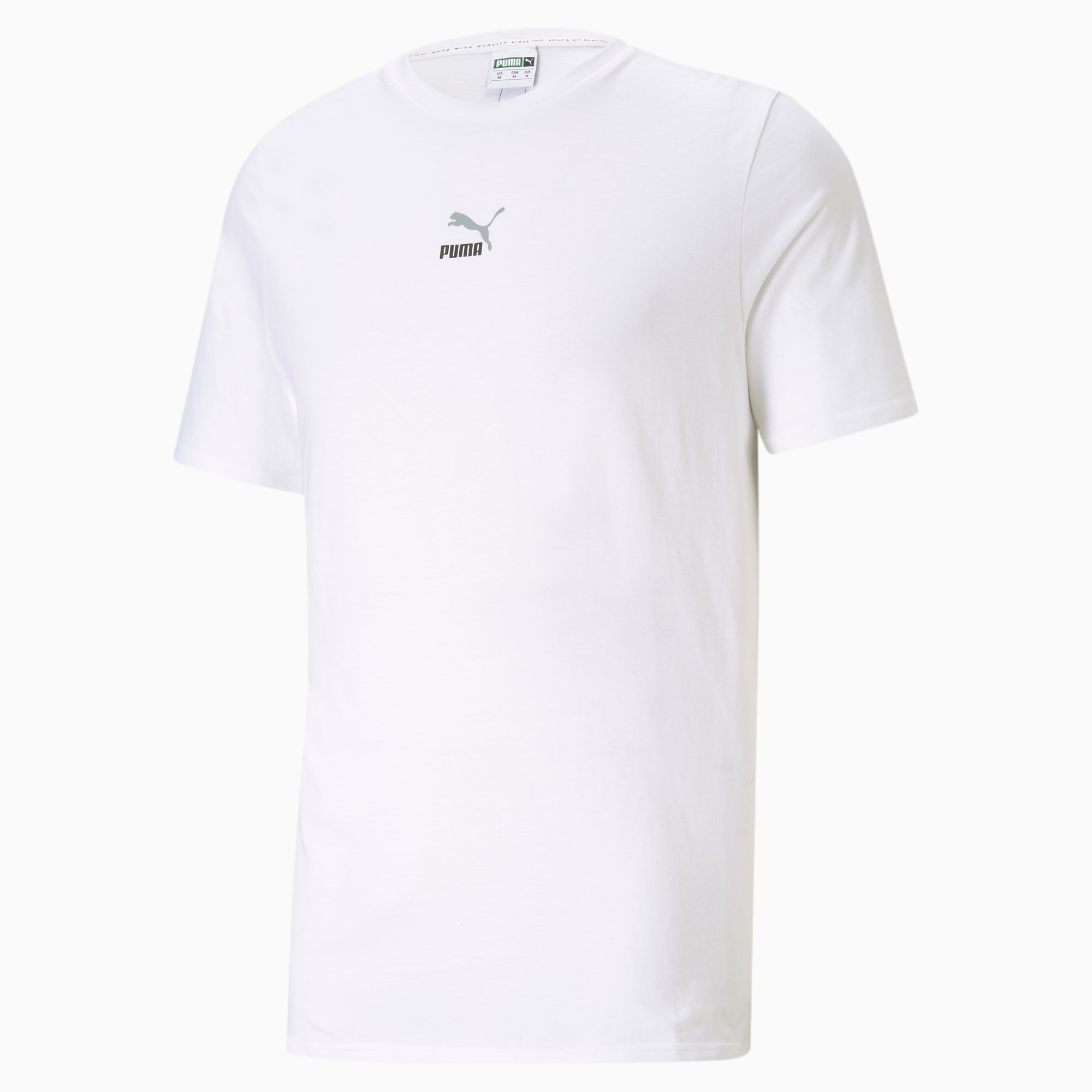 【領券最高折$400】PUMA ELEVATE TAPE 男裝 短袖 純棉 休閒 串標 白 歐規【運動世界】53107502