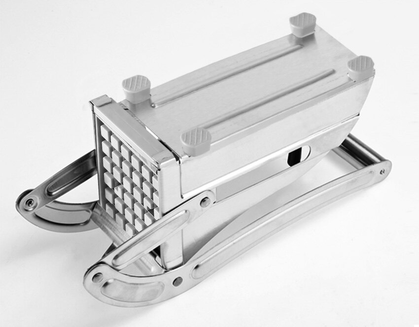 Stainless Steel French Fry Cutter Maker Potato Chipper Silver 2