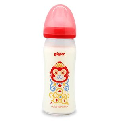 PIGEON貝親猴年臻品限量版玻璃彩繪奶瓶(紅)【悅兒園婦幼生活館】