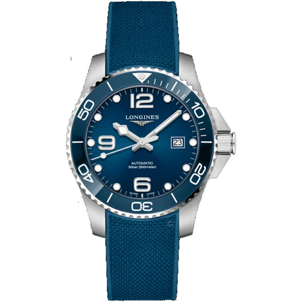 LONGINES浪琴深海征服者陶瓷潛水機械錶  L37824969 藍