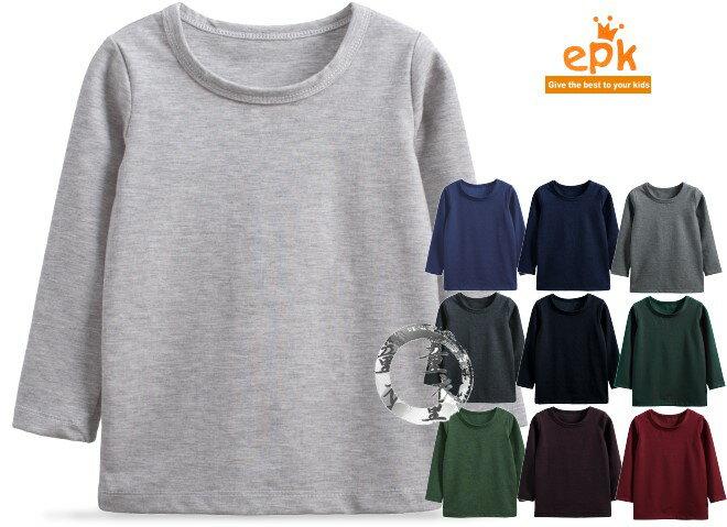童衣圓【AA166】AA166百搭圓領衫 epk 長袖 圓領 針織綿 素面 純色 內搭 T恤 上衣 綿T~90-150