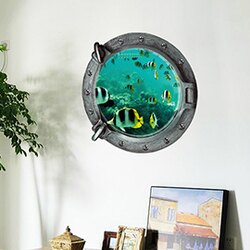 WallFree 窩自在 DIY無痕創意牆貼/壁貼-3D海底世界(小丑魚)_Z-2-002