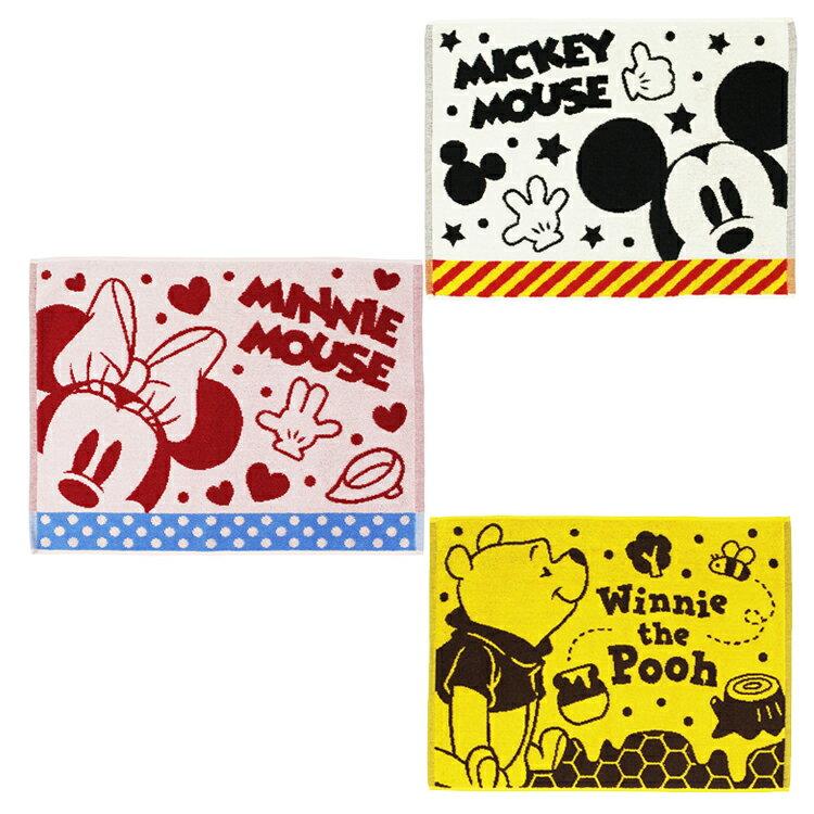 迪士尼 米奇 米妮 維尼 卡通圖案 浴室用 腳踏墊 棉質 地墊 門墊 地毯 共兩款 日本進口正版 355213