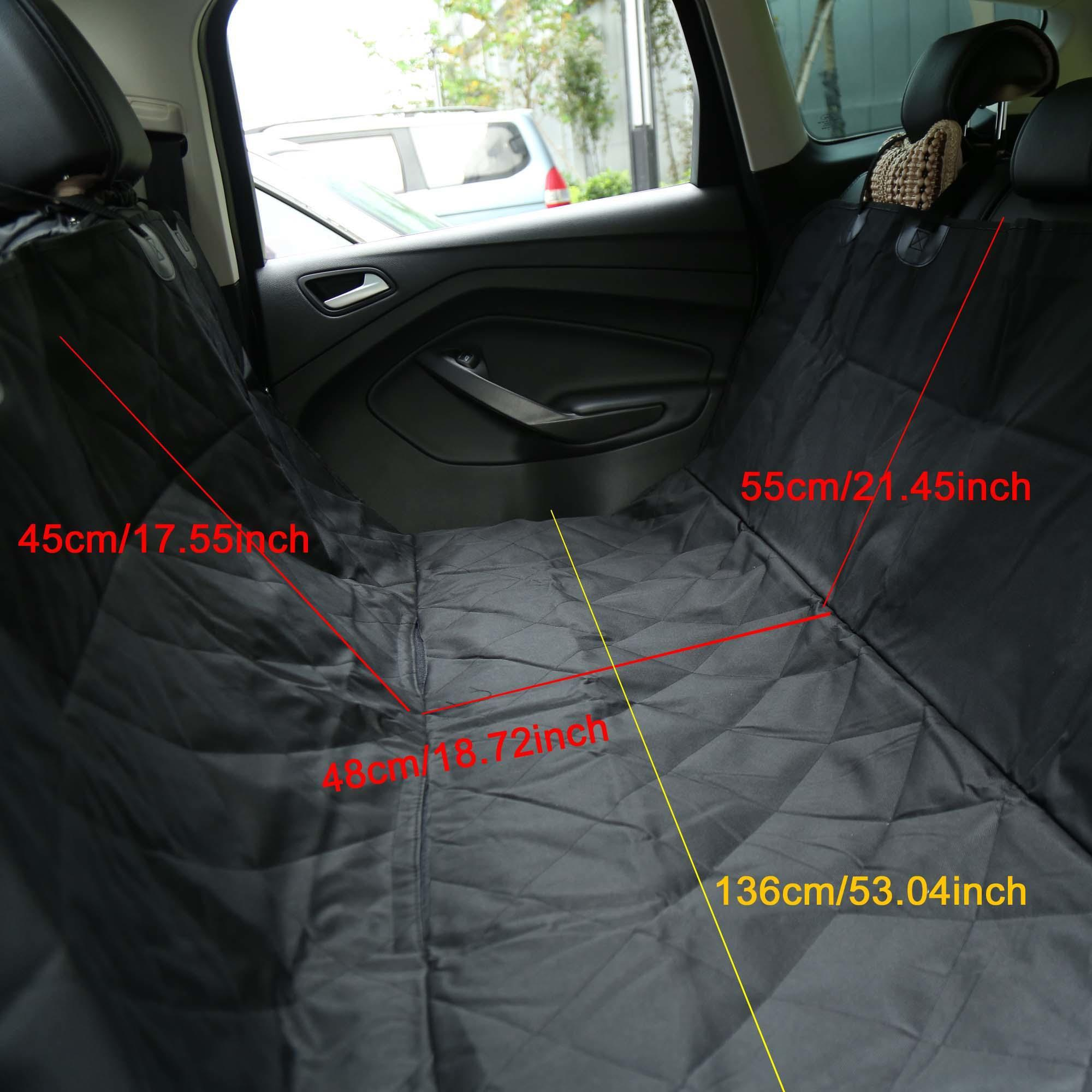 Waterproof Non Slip Pet Dog Car Rear Back Seat Cover Protector Black 2