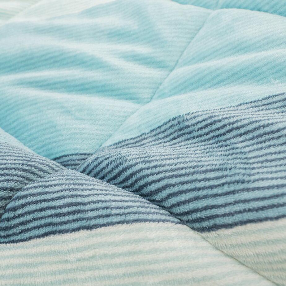 Sweet-Blue 羊羔絨暖被 內有充棉 可當棉被使用 150cmX195cm (正負5cm) 台灣製 8