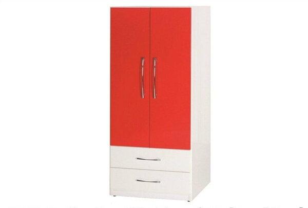 【石川家居】830-03(紅白色)衣櫥(CT-113)#訂製預購款式#環保塑鋼P無毒防霉易清潔