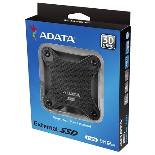 ADATA Durable SD600 3D NAND USB 3.1 External SSD 512GB Black (ASD600-512GU31-CBK) 2