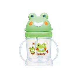 哈皮蛙滑蓋自動吸管練習杯250ml『121婦嬰用品館』
