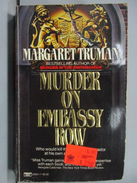 ~書寶 書T1/原文小說_JCR~Murder on Embassy Row