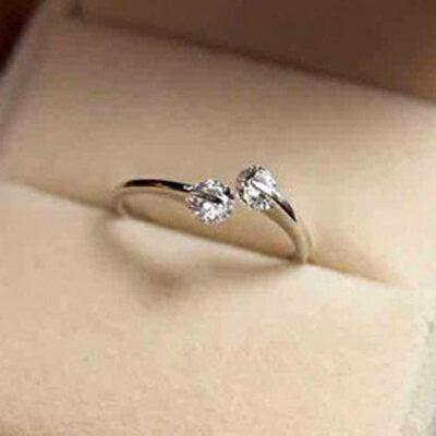 925純銀戒指鑲鑽開口戒~閃耀動人絢麗繽紛七夕情人節 女飾品73dt181~ ~~米蘭 ~