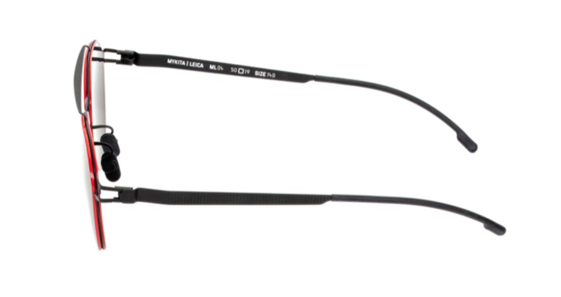 【MYKITA】德國萊卡聯名 ML04 黑色紅框梨形墨鏡 專利保護塗層