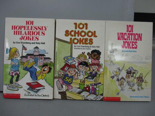 【書寶二手書T4/語言學習_JPU】101 School Jokes_101 Vacation Jokes等_共3本合售
