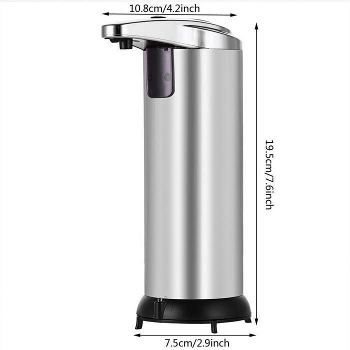 Automatic Touchless Soap Dispenser Stainless Steel Dispenser with Base 250ml 5