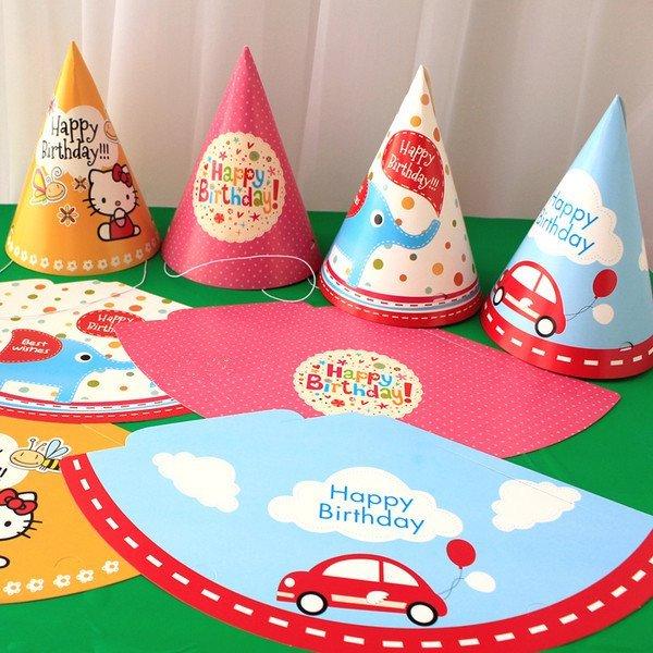 =優生活=韓版可愛生日派對帽 大象 汽車 卡通生日帽 兒童生日派對佈置用品 幼兒園活動 大尺寸