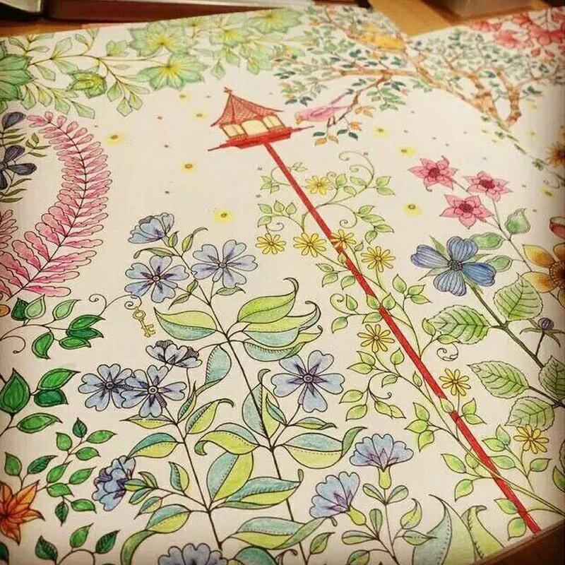 ~斯瑪鋒數位~韓版 新秘密花園 魔法森林 Secret garden 彩繪本 描繪本手繪著色本 祕密花園 紓壓療癒 (送24色畫筆)