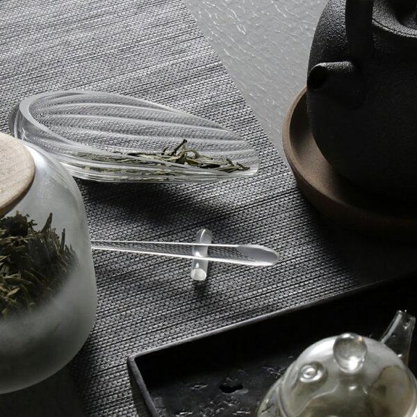 涉谷嚴選‧手工玻璃茶則三件套功夫茶鏟茶荷茶撥茶勺套裝茶具六君子茶道