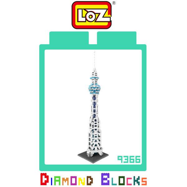 LOZ 鑽石積木-9366 天空樹 630PCS 益智 趣味 迷你 腦力激盪~斯瑪鋒科技