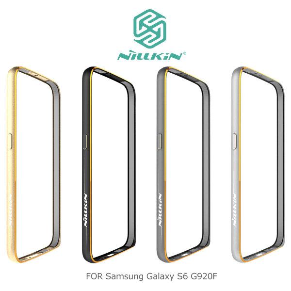 NILLKIN Samsung Galaxy S6 G920F 哥特金屬邊框 太空鋁合金材質 表扣設計~斯瑪鋒科技~