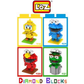 LOZ 鑽石積木-9118 - 9121 芝麻街大鳥 / 芝麻街餅乾怪獸 / 芝麻街ELMO / 芝麻街奧斯卡