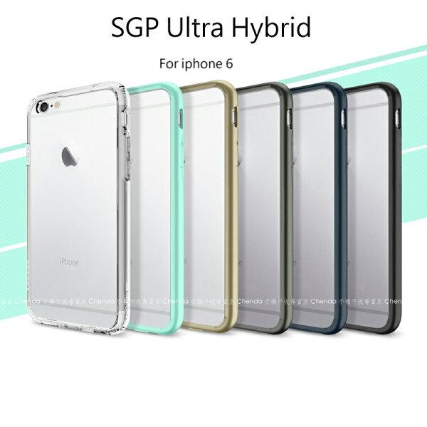 涉谷數位:~斯瑪鋒科技~SGPAPPLEiphone6(4.7吋)UltraHybrid矽膠邊框透明殼保護殼保護套