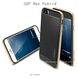 ~斯瑪鋒科技~SGP APPLE iphone6 plus(5.5吋))Neo Hybrid 雙層黑矽膠+邊框 保護殼 保護套