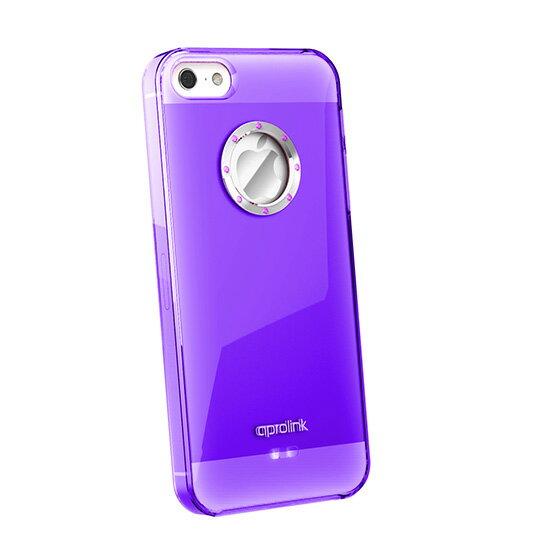 【iphone5精品配件】AproLink Apple iPhone 5/5s/5SE  琉璃彩鑽外殼 (透明紫) 驚艷上市 台灣公司貨