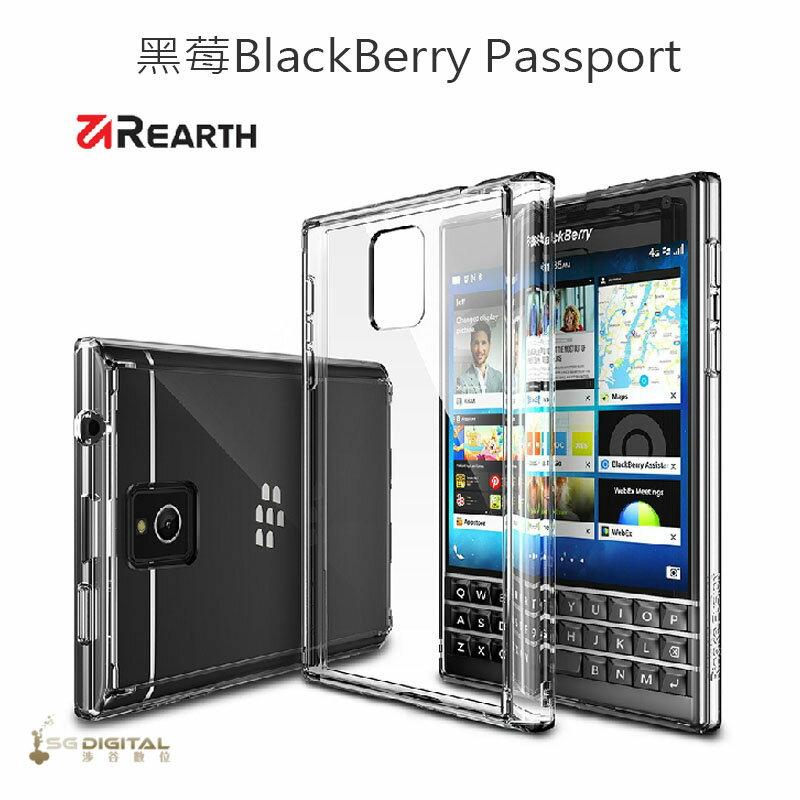 美國原裝REARTH 黑梅BlackBerry Passport 一體成形 防塵塞款 保護殼套