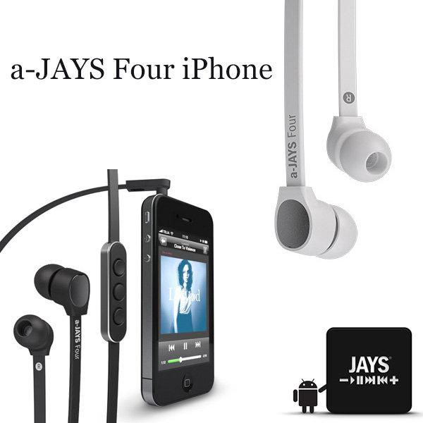 JAYS a-Jays Four iPhone 支援iPod iPhone iPad 智慧型手機平板高階有線耳機 內建麥克風