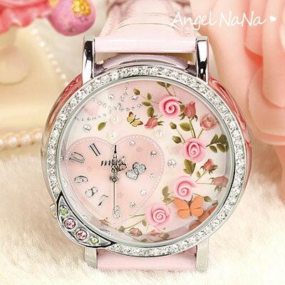 AngelNaNa 韓國100%正品 童話 立體粉雕軟陶錶女手錶.生日 情人節 ~玫瑰心事