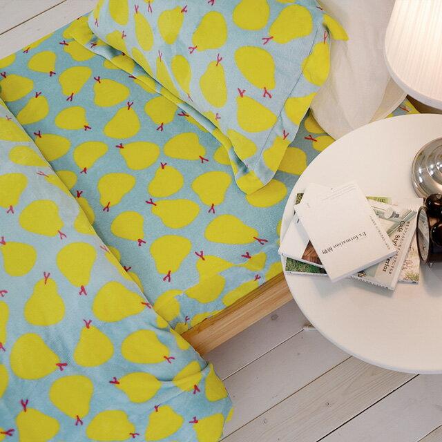 法蘭絨床包被套組 【小香梨】法蘭絨單人3.5尺床包被套三件組  絲薇諾