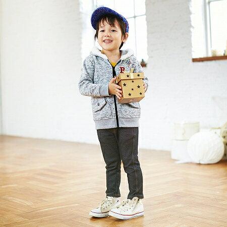 【NISSEN】童裝|針織風裡拉絨連帽外套