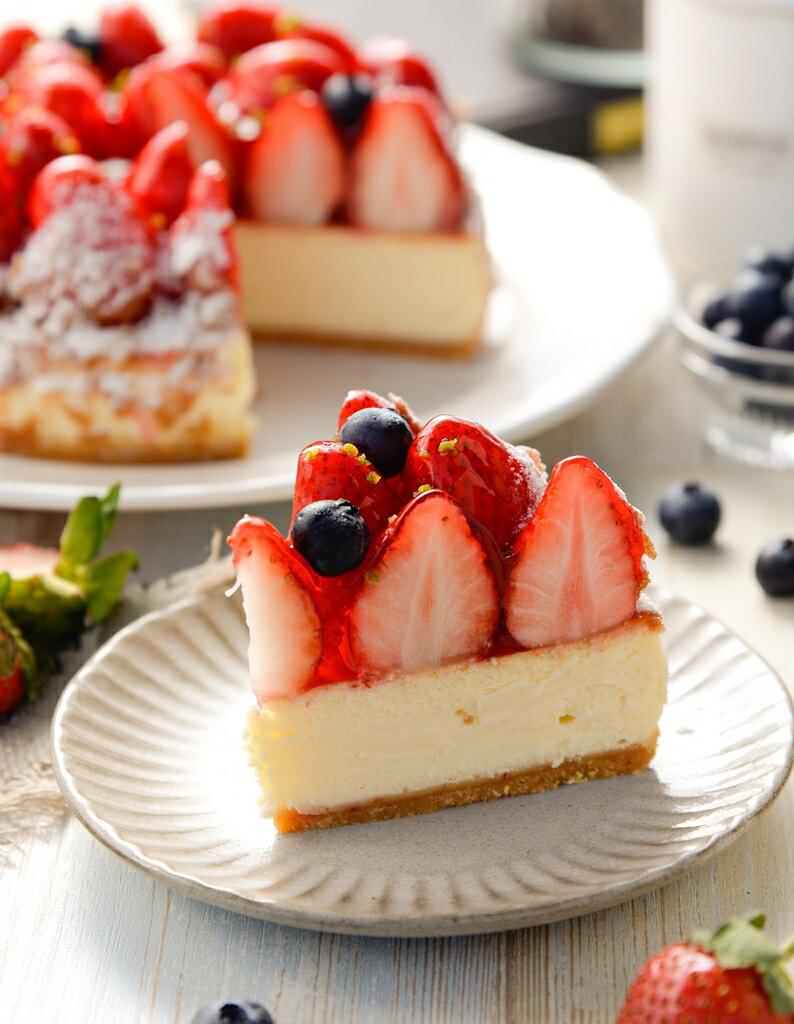 6吋草莓乳酪派▲免運▲~嚴選紐西蘭頂級乳酪▲產地直送新鮮大湖草莓▲多層次口感▲天然醇厚 2