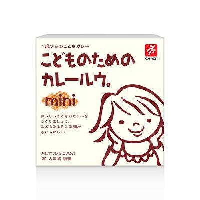 日本CANYON─兒童咖哩塊mini75g【六甲媽咪】