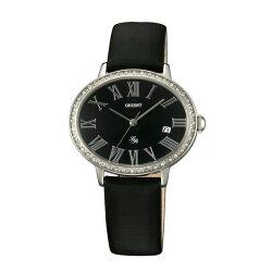 ORIENT 東方錶ELEGANT系列 (FUNEK006B)橢圓形石英腕錶 皮帶款 黑色 36mmX30mm