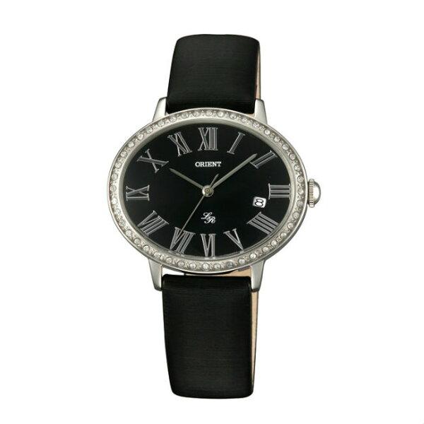 ORIENT東方錶ELEGANT系列(FUNEK006B)橢圓形石英腕錶皮帶款黑色36mmX30mm