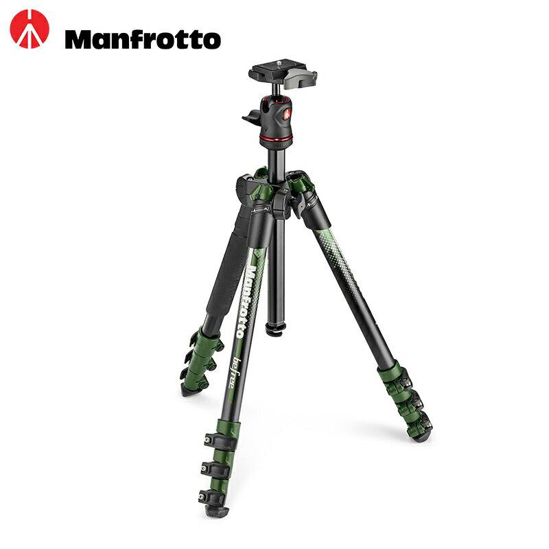 ◎相機專家◎ Manfrotto NEW Befree color 自由者旅行腳架套組 MKBFRA4GR-BH 綠色 公司貨