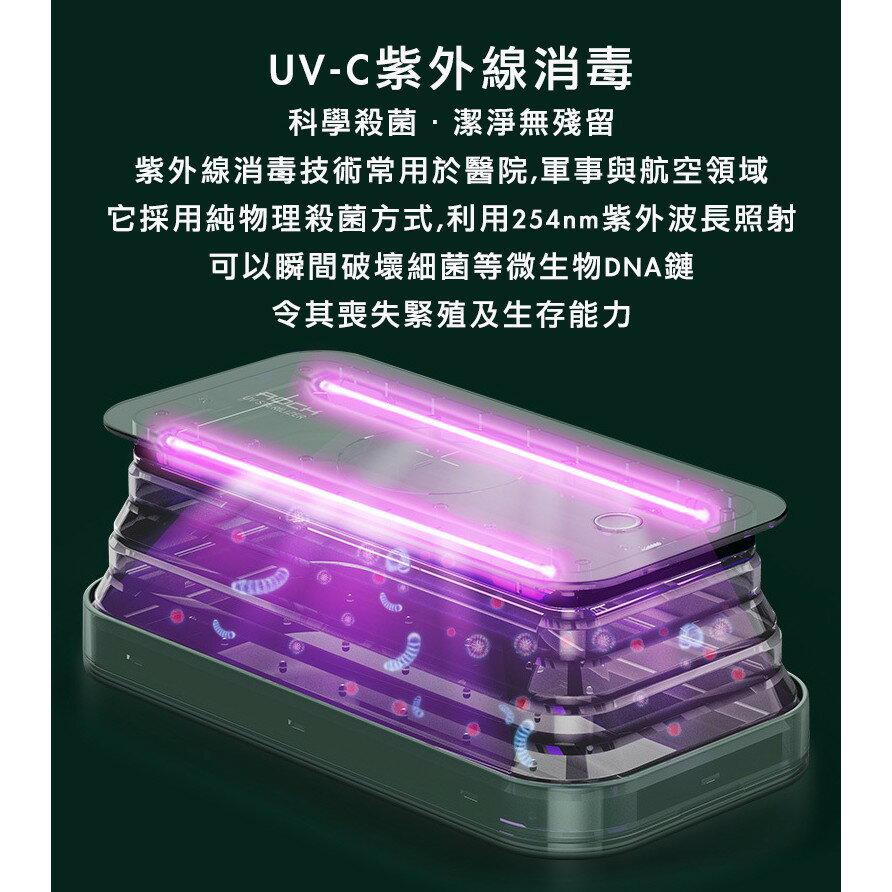 多功能紫外線消毒盒奶嘴口罩飾品專業可收納折疊殺菌便攜多功能手機支架無線充電器 6
