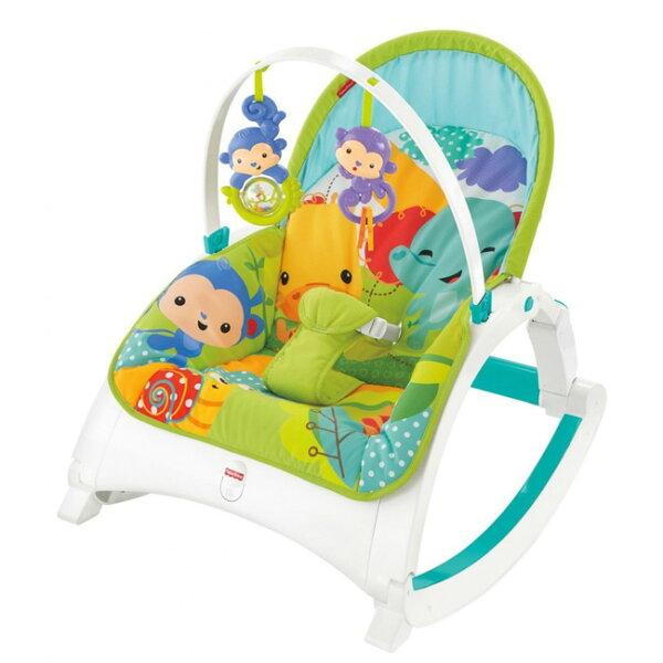 【奇買親子購物網】費雪牌Fisher-Price可攜式兩用震動安撫躺椅
