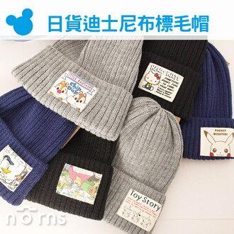NORNS【日貨迪士尼布標毛帽】愛麗絲米奇米妮KITTY皮卡丘三眼怪奇奇蒂蒂帽子