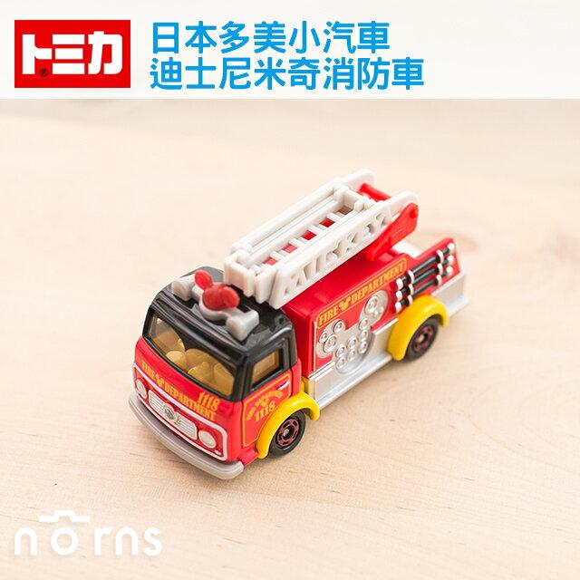 NORNS 【日貨Tomica小汽車(迪士尼米奇消防車)】日本多美迪士尼小汽車 雲梯車 Mickey 玩具車