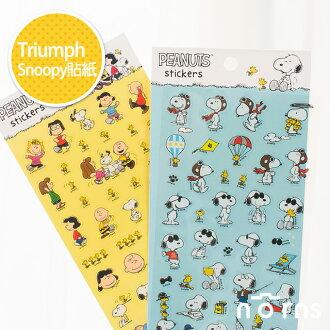 NORNS【Triumph Snoopy貼紙】史努比 糊塗塔克 花生漫畫 正版裝飾拍立得底片