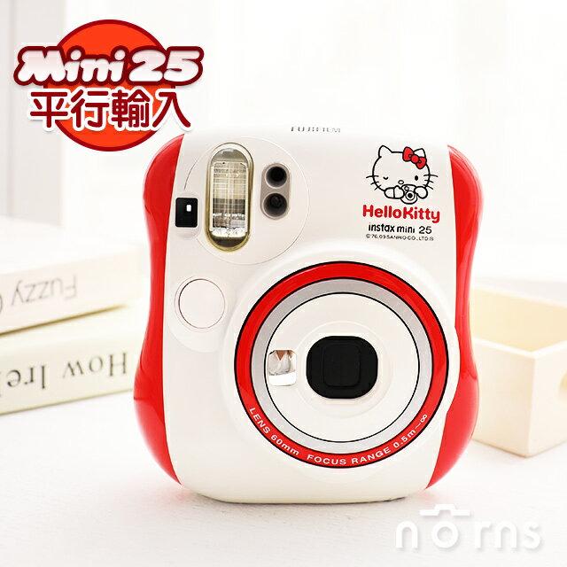 NORNS【富士Mini25紅色Hello kitty拍立得相機】instax mini 25卡通 平輸保固一年