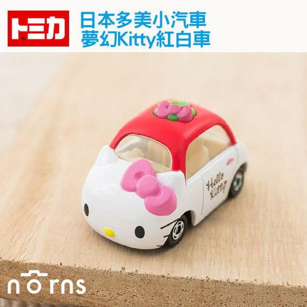 NORNS 【夢幻Kitty紅白車】日本TOMICA多美小汽車 Hello Kitty 凱蒂貓 三麗鷗