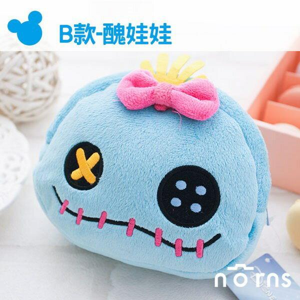 NORNS 【B款醜娃娃拉鍊包】史迪奇Stitch 迪士尼正版卡通絨毛束口袋 拍立得相機包