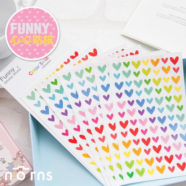 NORNS 【一套6張 愛心彩色貼紙】mini 7s 25 50s 90拍立得照片、相本日記本裝飾貼紙