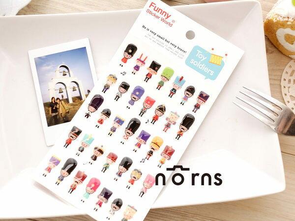 NORNS 韓國進口【FUNNY-皇家士兵】 立體水晶點膠貼紙 拍立得照片裝飾貼紙 高質感