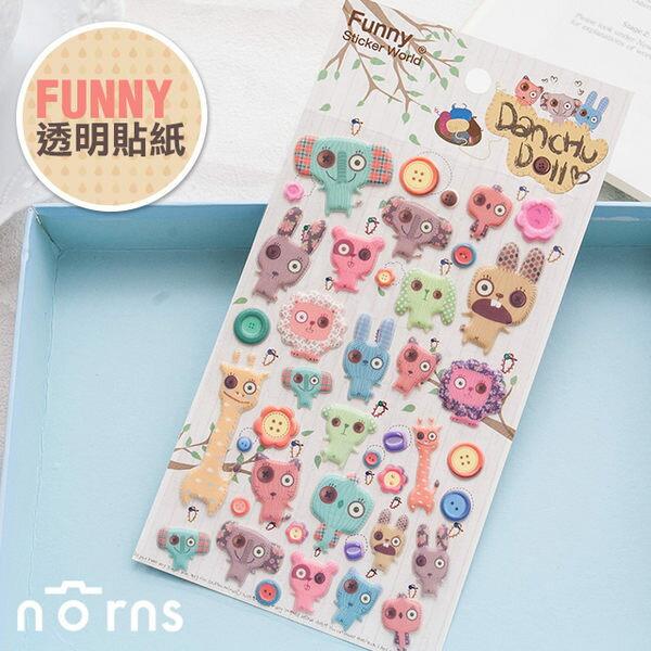 NORNS  韓國【Funny 醜娃娃 立體貼紙】拍立得照片裝飾貼紙 巫毒娃娃
