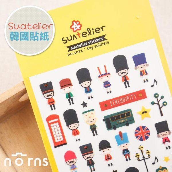 NORNS 【韓國 suatelier 貼紙-Toy Soldier】玩具士兵 手帳 行事曆 照片 裝飾貼紙